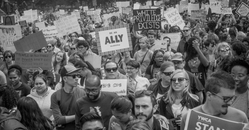 people march for racial justice